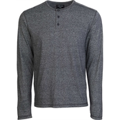 Alpha Beta Three Button Henley