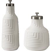 Uttermost Chandran Matte White Containers Set of 2