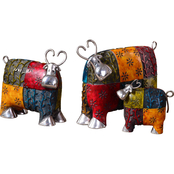 Uttermost Colorful Cows Metal Figurine 3 pc. Set