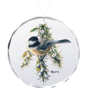Wild Wings Springtime Jewels Chickadee Oval Beveled Edge Glass Ornament