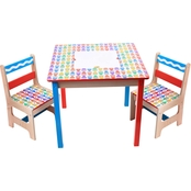 Grow'n Up Crayola Kids Wooden Table and Chair 3 pc. Set