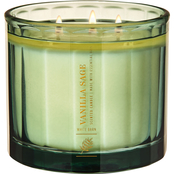 Bath & Body Works Warm Welcome Panel Glass Vanilla Sage 3 Wick Candle
