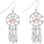 Landstrom's Black Hills Gold Sterling Silver Dreamcatcher Earrings