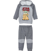 Star Wars Infant Boys The Mandalorian The Child Hooded Top and Pants 2 pc. Set