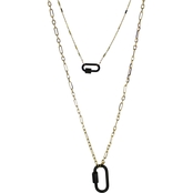Panacea Hematite Two Row Chain Link Necklace