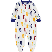 Jordan Infant Boys White Allover Print Footed Coveralls