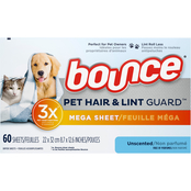 Bounce Pet Unscented Dryer Sheets 60 ct.