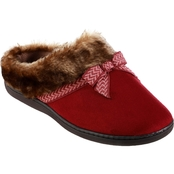 Totes Isotoner Women's Microsuede Nelly Hoodback Slippers