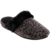 Totes Isotoner Women's Low Pile Cheetah Pippa Clog Slippers