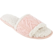 Isotoner Women's Alexis Totes Cable Knit Slides