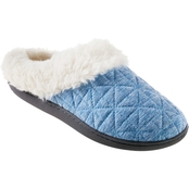 Isotoner Women's Bridget Quilted Recycled Jersey Hoodback Slippers