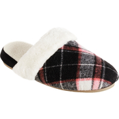 Totes Isotoner Page Plaid Open Clogs