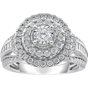 10K White Gold 1 CTW Diamond Bridal Ring Size 7