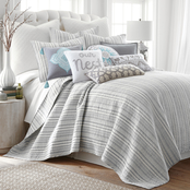 Levtex Home Bondi Stripe Gray Quilt Set