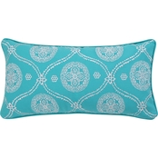 Levtex Home Mackenzie Teal Embroidered Pillow