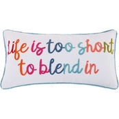 Levtex Home Jules Life Too Short Pom Pillow