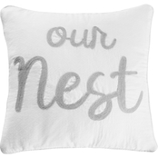 Levtex Home Bondi Stripe Gray Our Nest Pillow