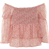 Almost Famous Juniors Smocked Peasant Top