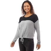 Almost Famous Juniors Color Block Drawstring Pullover Top