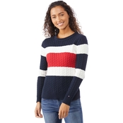 Tommy Hilfiger Cate Colorblock Cable Sweater