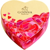 Godiva 6 pc. Valentine's Day Mini Heart Box 1.1 oz.