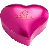 Godiva Valentine's Day Cube Heart Tin 3.4 oz.
