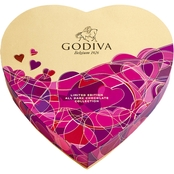 Godiva 14 pc. Heart Gift Box Dark Chocolate 6 oz.