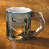 Wild Wings Flying Free Eagle Sculpted Mug