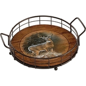 Wild Wings Whitetail Deer In the Storm Serving Tray