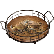 Wild Wings Autumn Run Whitetail Deer Serving Tray