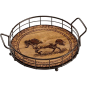 Wild Wings Distant Thunder Horse Serving Tray