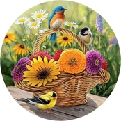 Wild Wings Summer Bouquet Flowers Coasters Set of 4