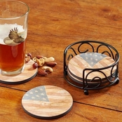 Wild Wings USA Flag Coasters Set of 4
