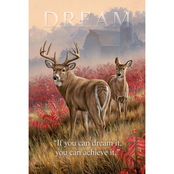 Wild Wings Dream Whitetail Deer Wood Sign 12 x 18