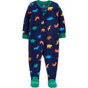 Carter's Toddler Boys Dinosaur Fleece Footie Pajamas