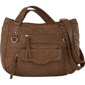 Bueno of California Waxy Washed Satchel