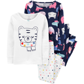 Carter's Infant Girls Snug Fit Cotton 4 pc. Pajama Set