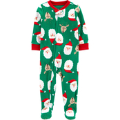 Carter's Infant Boys One Piece Santa Fleece Footie Pajamas