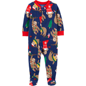Carter's Infant Boys One Piece Christmas Fleece Footie Pajamas