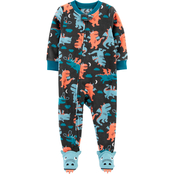 Carter's Infant Boys One Piece Dragon Fleece Footie Pajamas