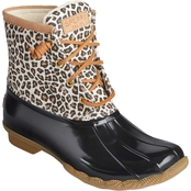 Sperry Saltwater Animal Print Rain Boots
