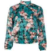 Lily White Juniors Edith Floral Top