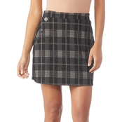 Inspired Hearts Juniors Plaid Button Skirt
