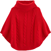 Carter's Little Girls Cable Knit Poncho