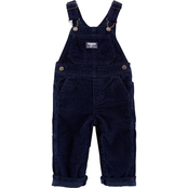 OshKosh B'gosh Infant Boys Jersey Lined Corduroy Overalls