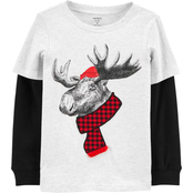 Carter's Little Boys Moose Layered Look Tee
