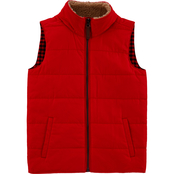 Carter's Little Boys Zip Up Poplin Vest