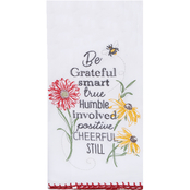 Kay Dee Designs Floral Buzz Embroidered Flour Sack Towel