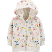 Carter's Infant Girls Zip Up Fleece Hoodie