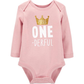 Carter's Infant Girls First Birthday Collectible Bodysuit